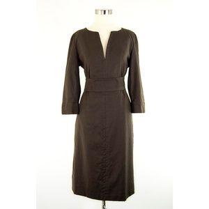 J. Crew Brown Wool Dress 8